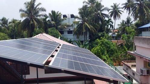 6kW Solar Ongrid Power Plant Maradu Ernakulam Kerala