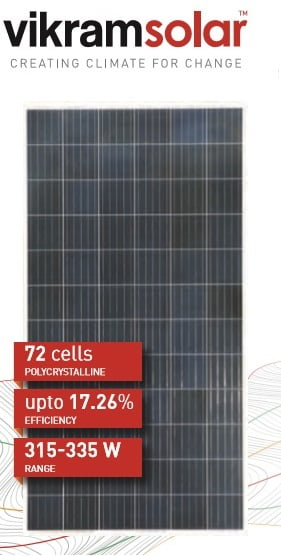 vikram solar panel 315w price in kerlaa