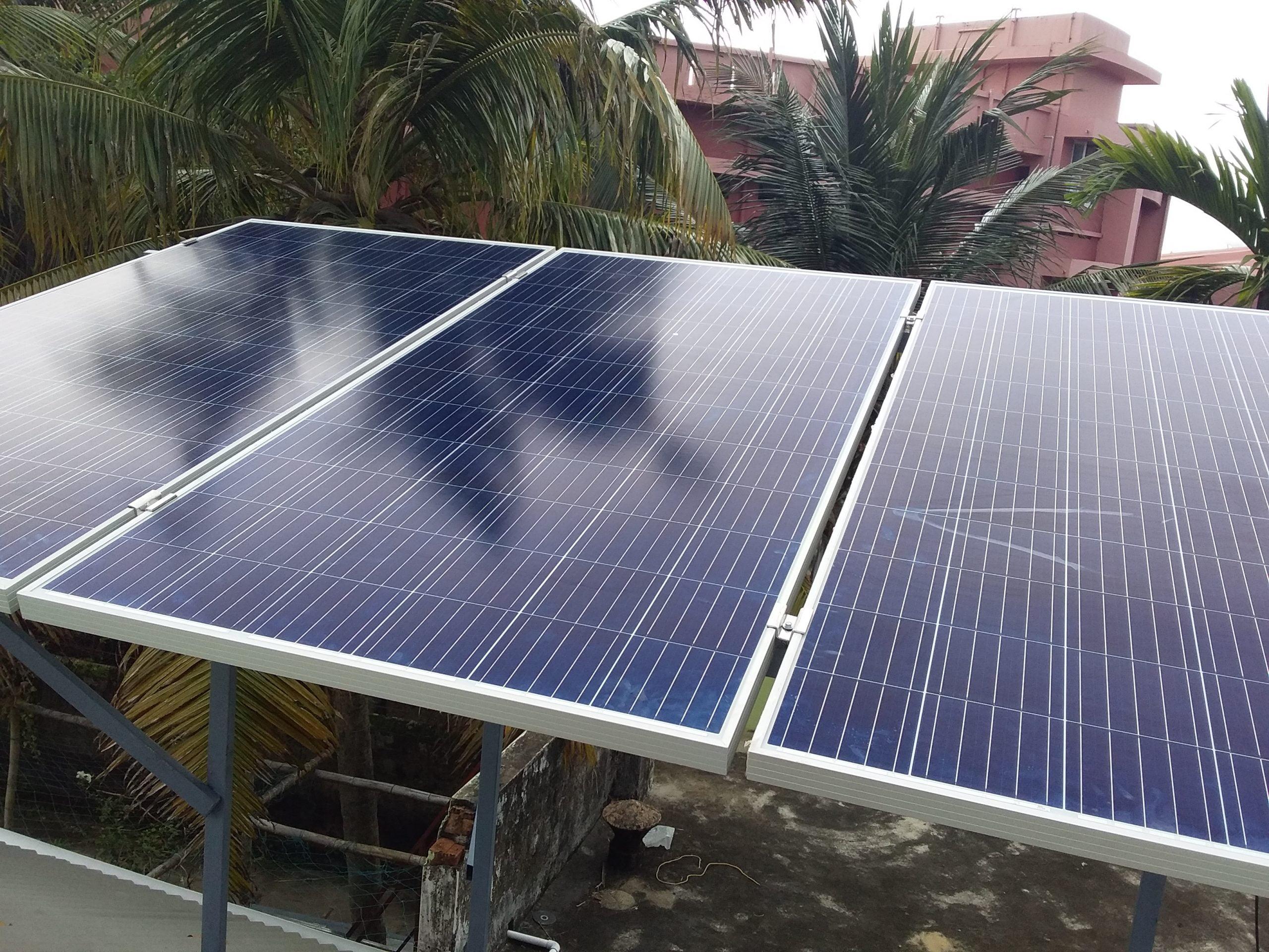 Solar Off grid Power Plant in Palluruthy Ernakulam