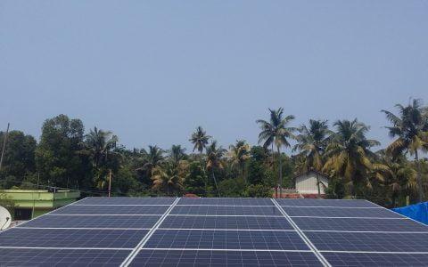 5kW Solar Ongrid Power Plant Thevara Ernakualm Kerala