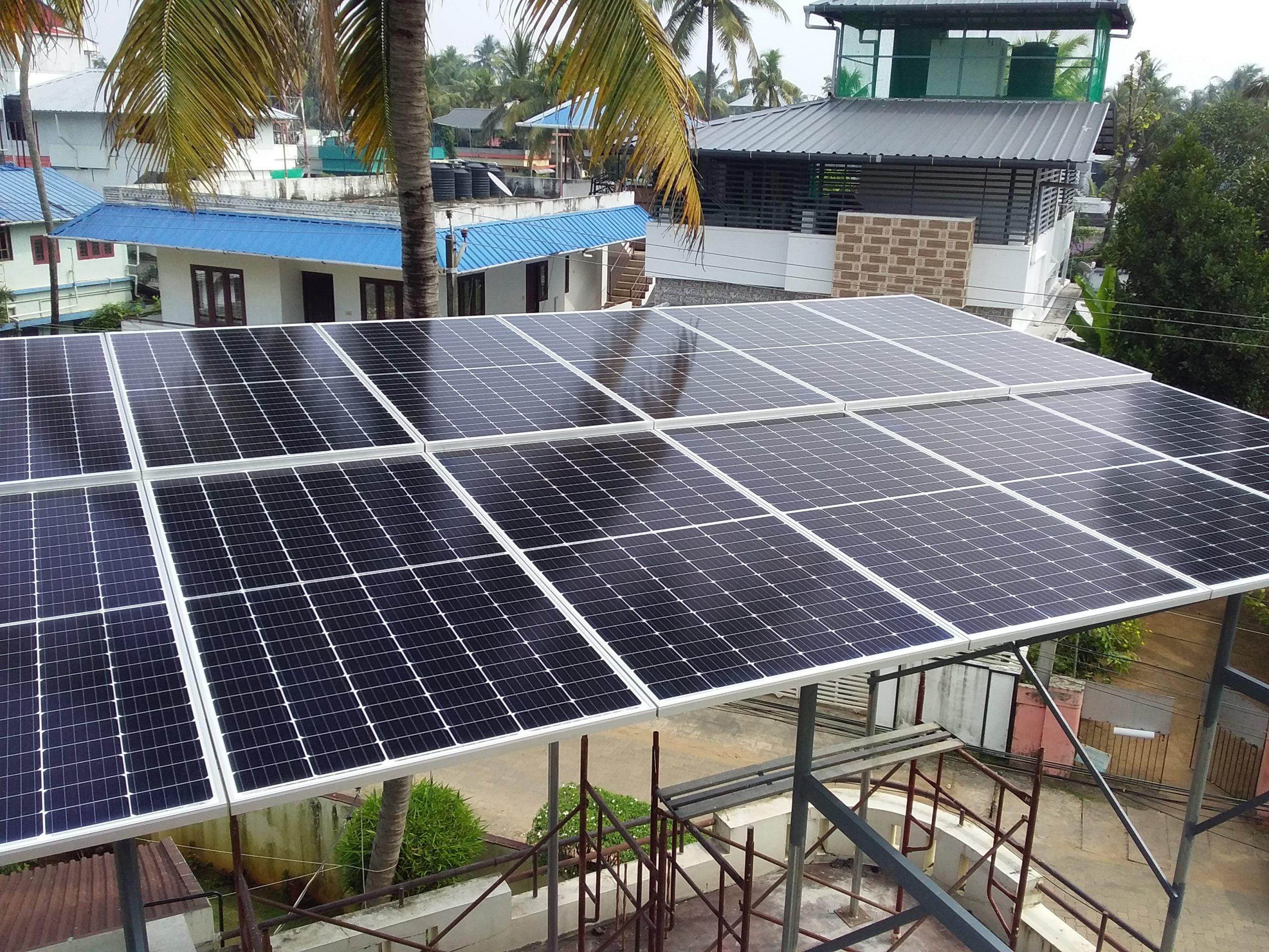ABB UNO 5.0 solar ongrid inverter Longi Solar Panel Thykoodam ernakulam kerala