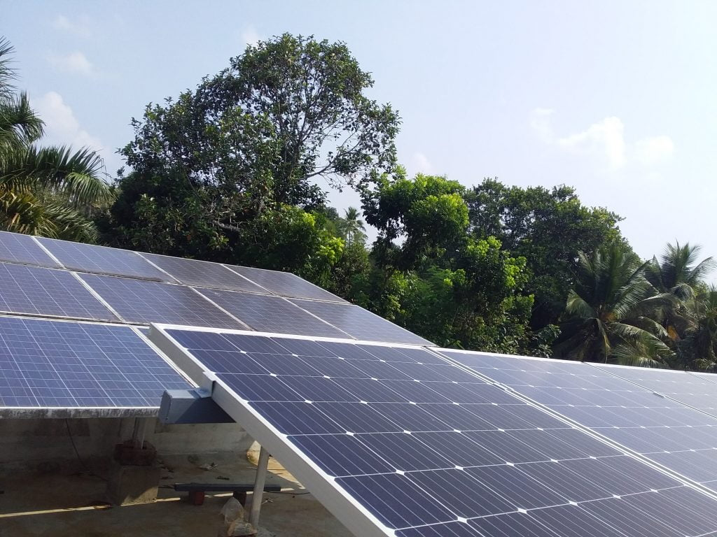 5kWp Solar Ongrid Power Plant at Chengannoor Alappuzha