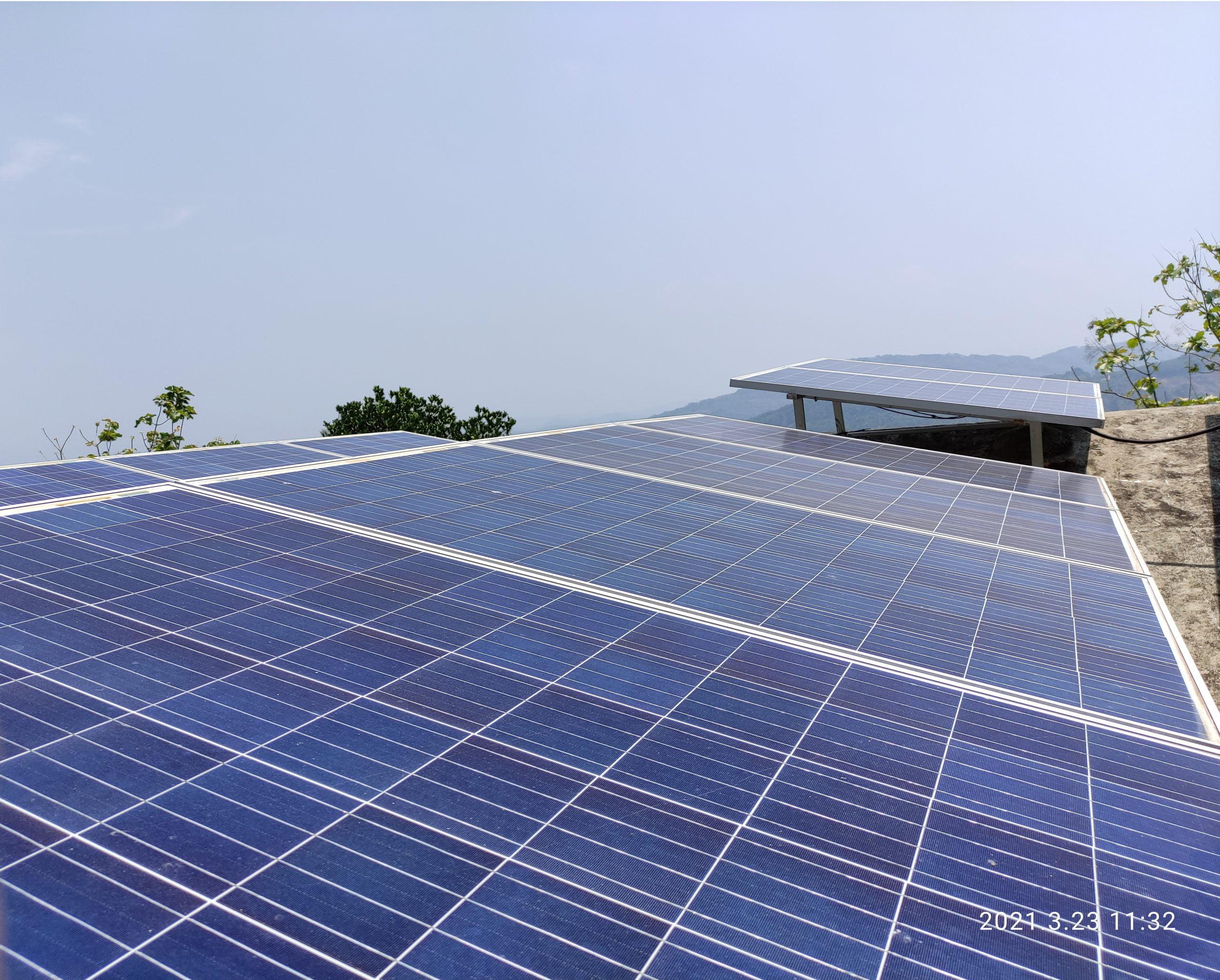 5Kw Solar Ongrid Power Plant at Thodupuzha
