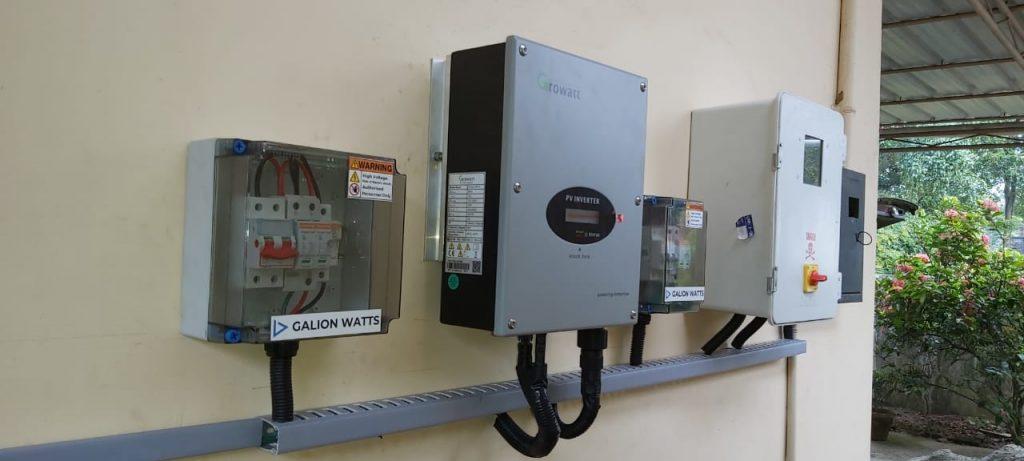 galion watts 3kwp solar ongrid power plant galion watts solar energy company in ernakulam kerala