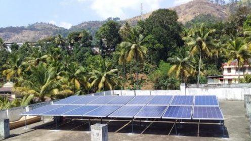 5kW Solar Ongrid Power Plant Adimali Idukki Kerala