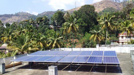 5kW Solar Ongrid Power Plant Adimali Idukki Kerala galion watts 5kW Solar ongrid power plant galion watts solar energy company in ernakulam kerala