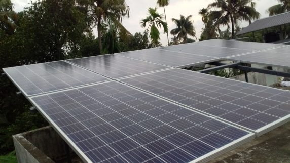 3kWp Solar Ongrid Power Plant in Aluva