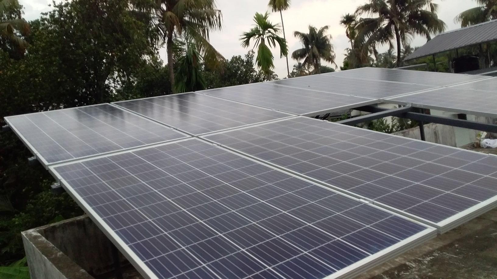 3kWp Solar Ongrid Power Plant in Aluva