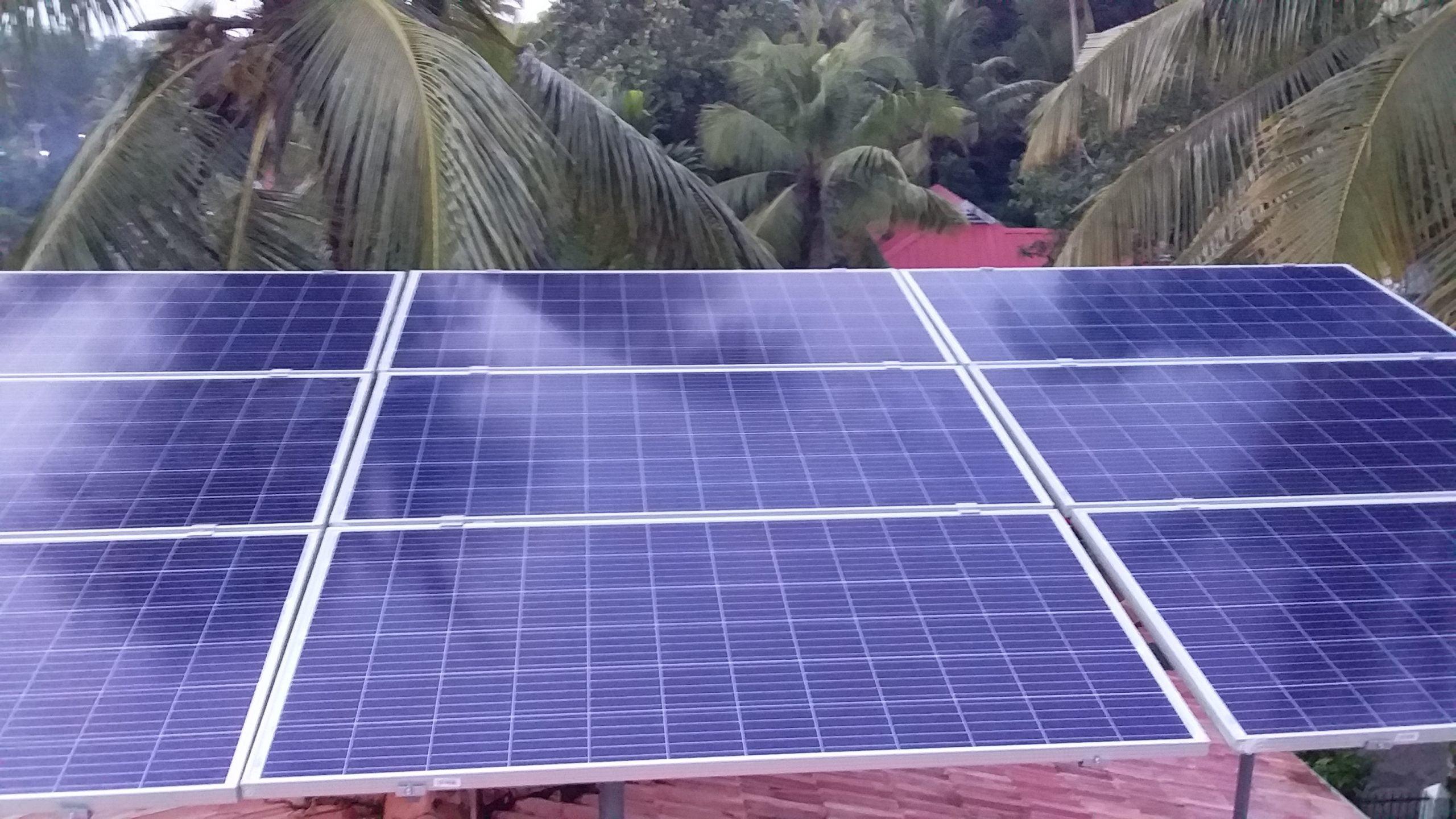 Remesh Kumar Amballoor 3kw ongrid power plant