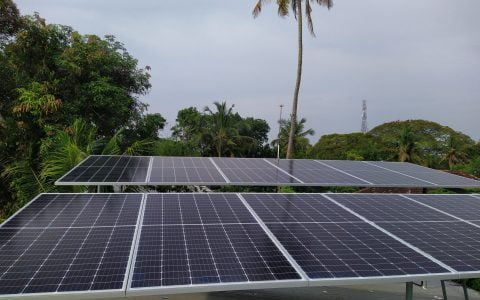 5kW Solar Ongrid Power Plant at Alappuzha