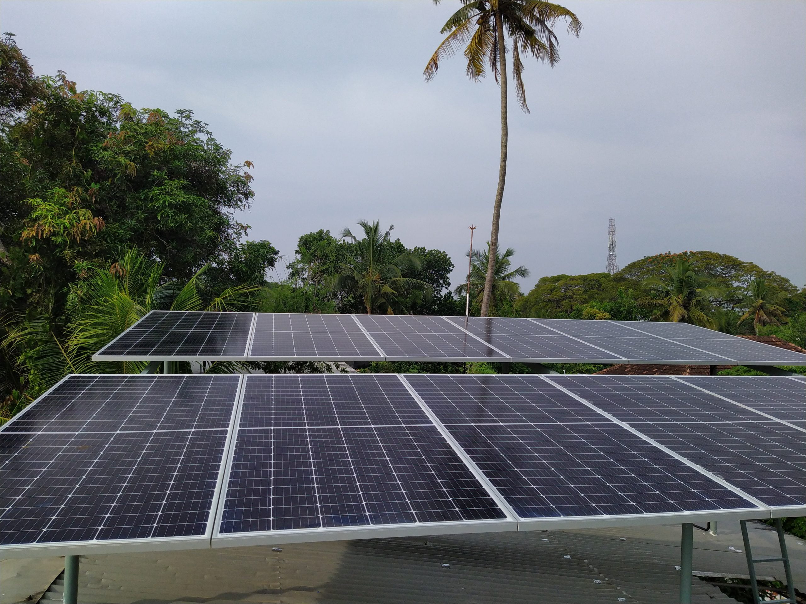 5kW Solar Ongrid Power Plant at Alappuzha