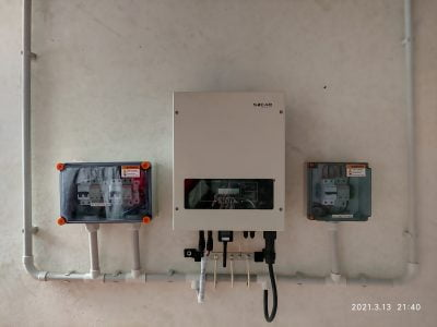 Sofar solar ongrid inverter solar ,Renewsys solar panel 380W,Kothamangalam ,kerala