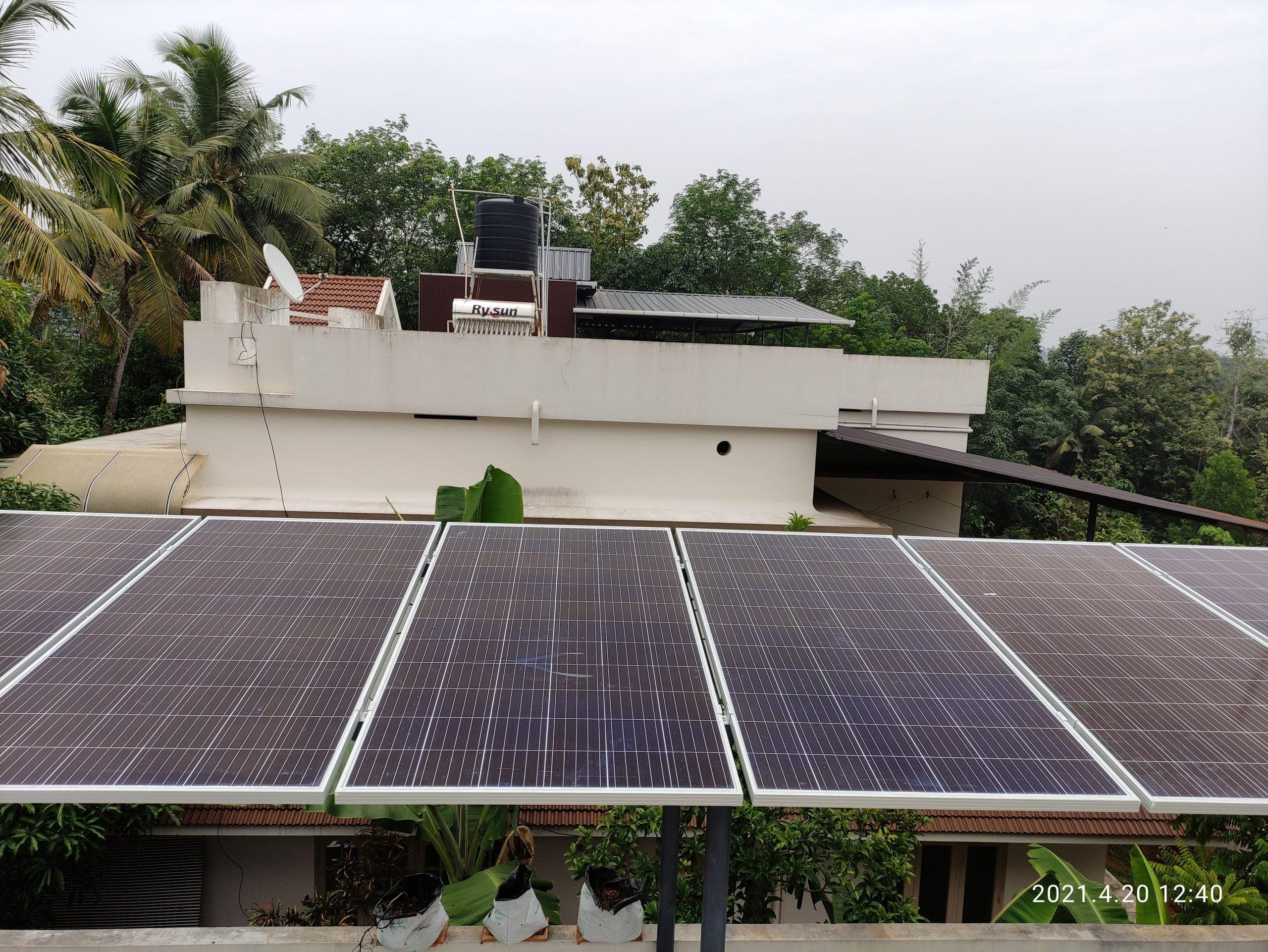 Sofar solar ongrid inverter solar ,Longi solar panel 435 W,Alappuzha ,kerala