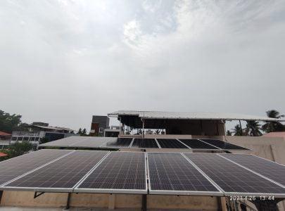 5Kwp Solar Ongrid Power Plant at Girinagar 1