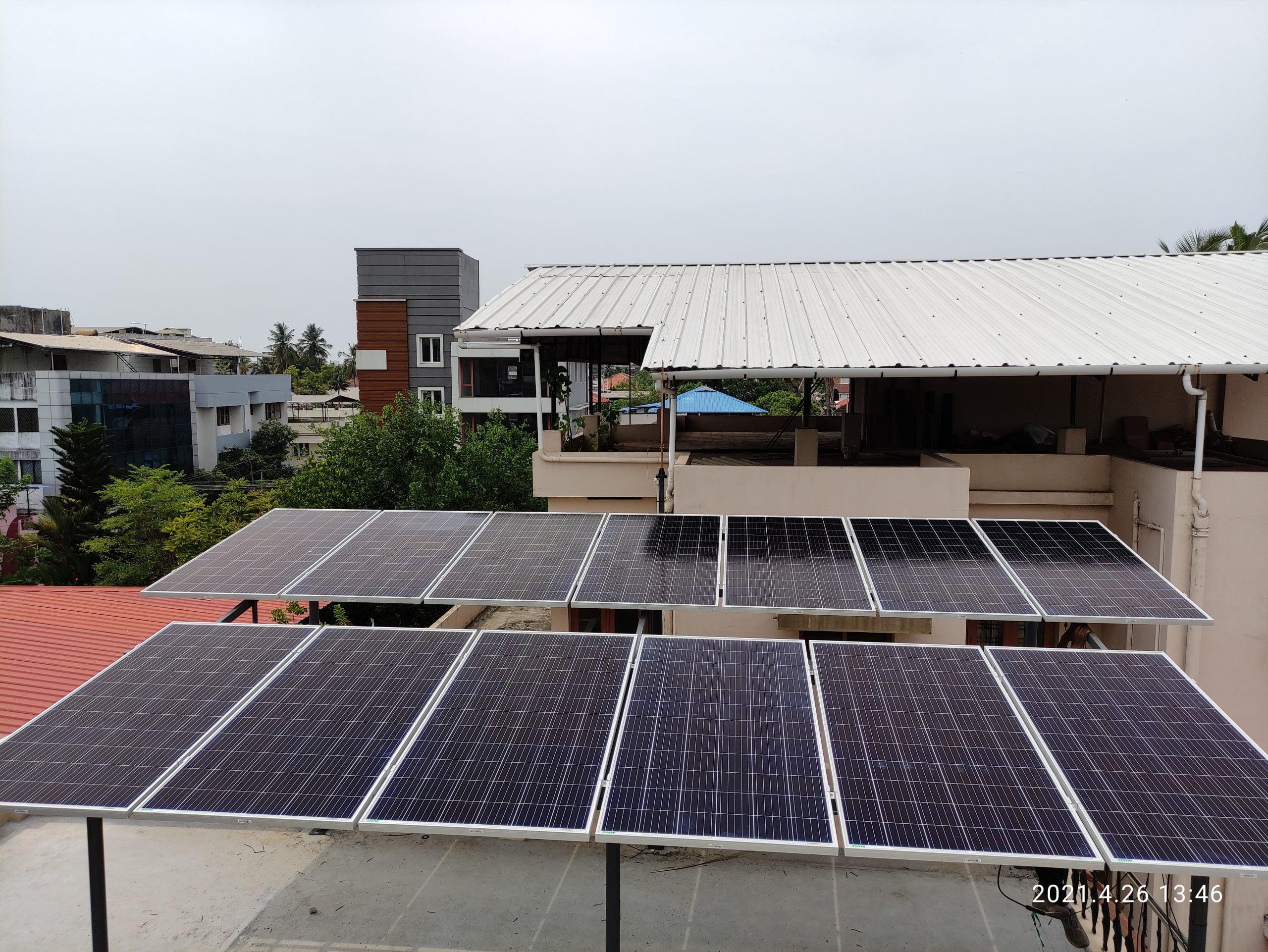 5Kwp Solar Ongrid Power Plant at Girinagar 3