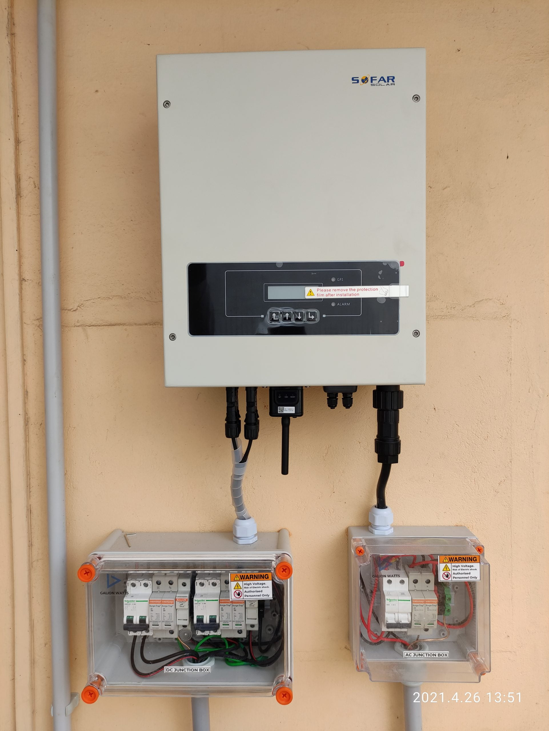 5Kwp Solar Ongrid Power Plant at Girinagar 4