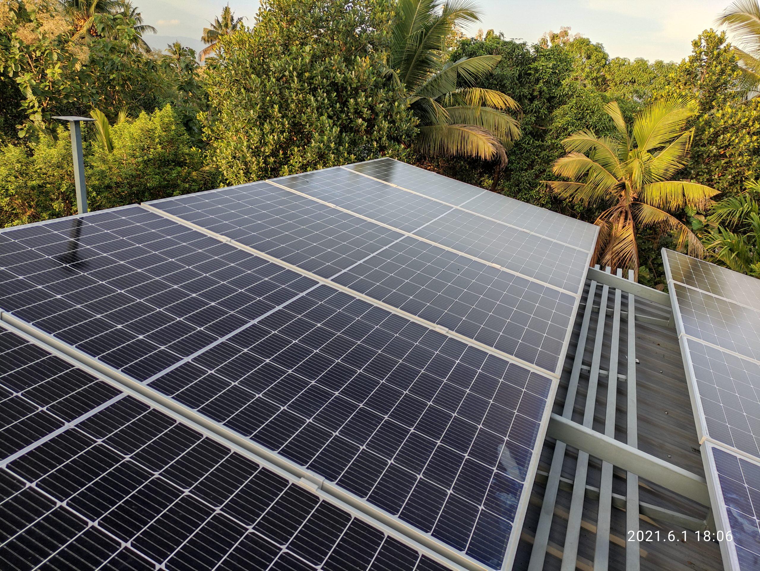 5kwp Solar Ongrid Power Plant at Kodakara Trissur 1
