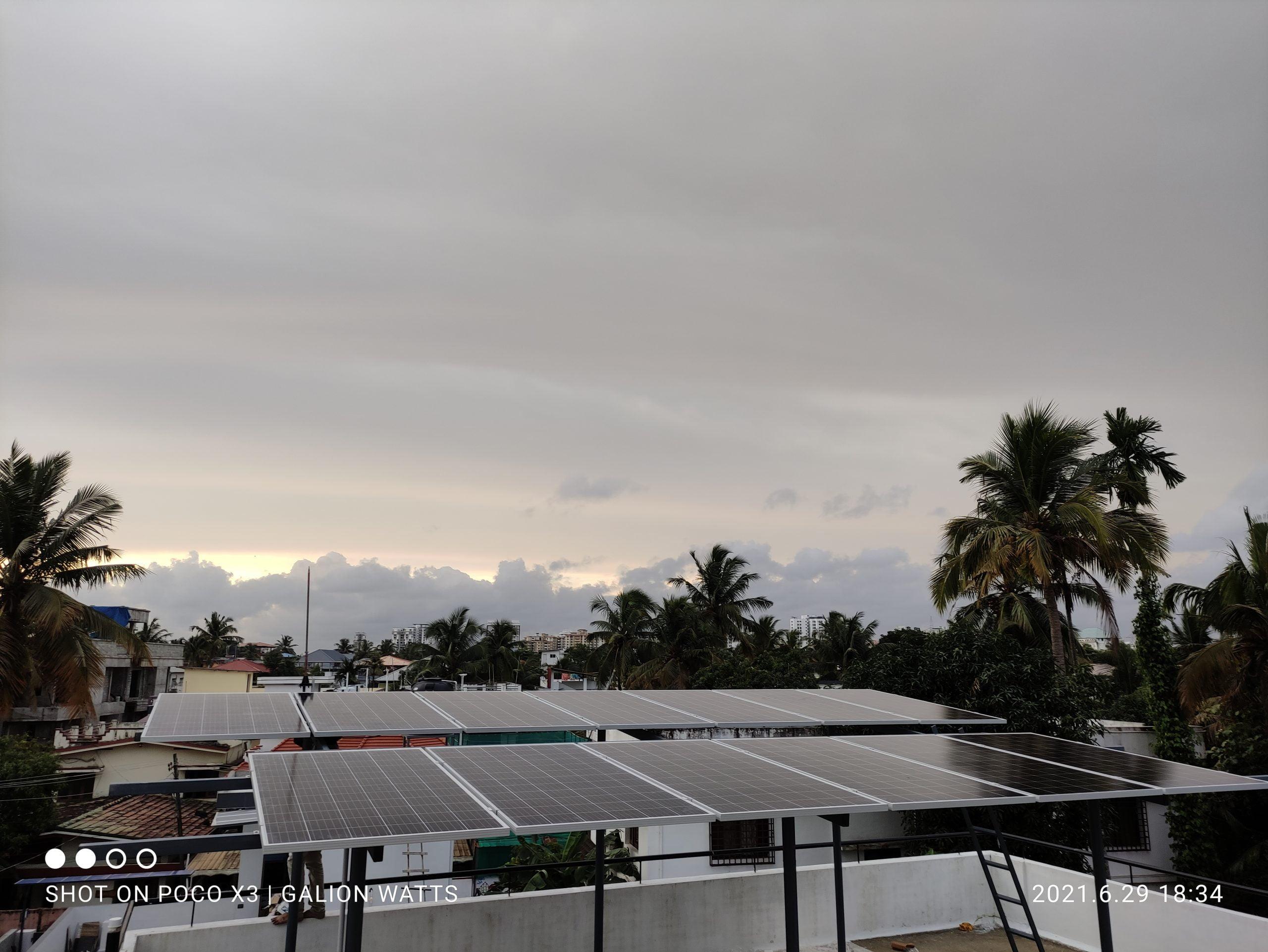 5kw Solar plant at Thevara Kochi 3