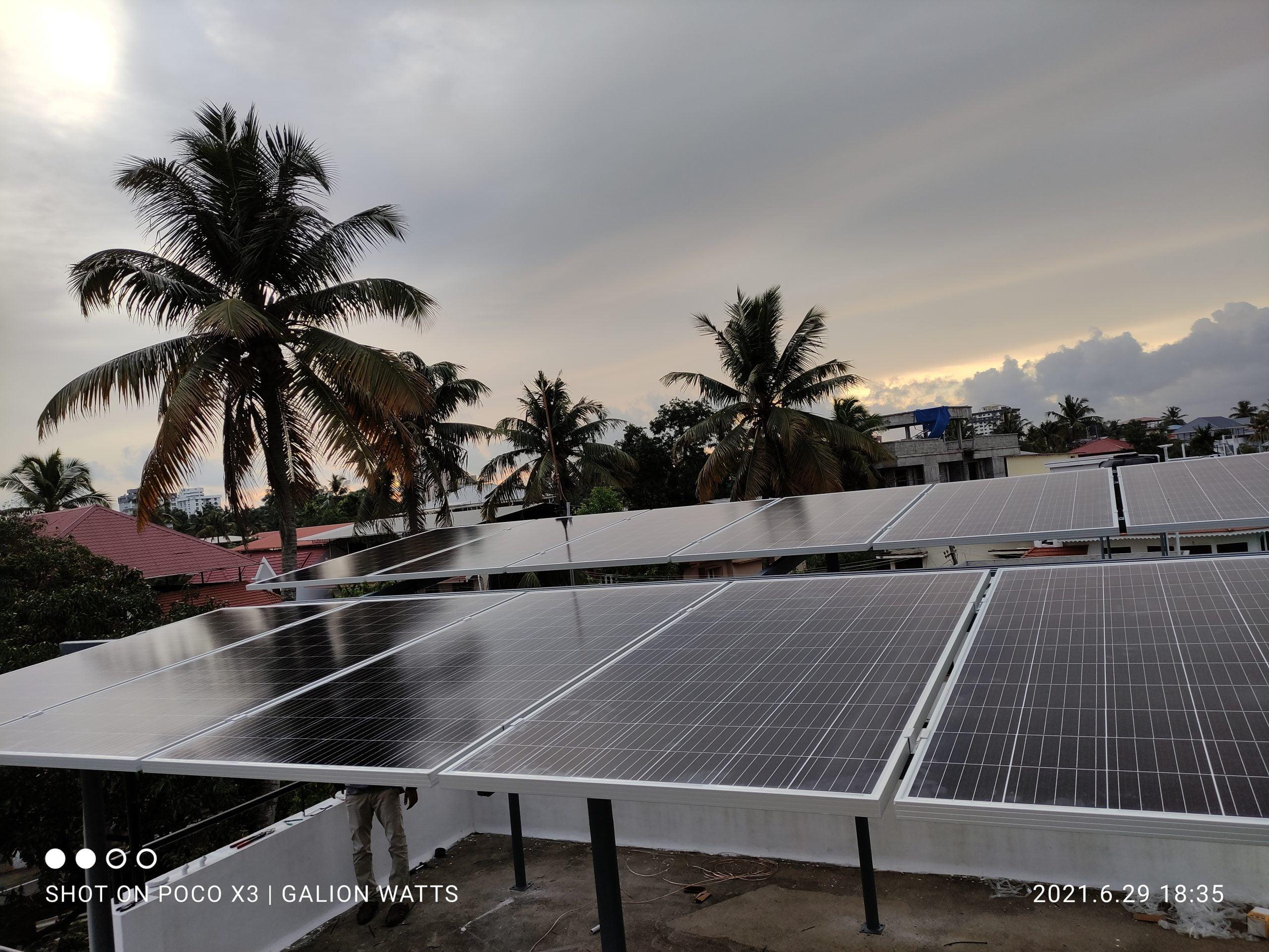 solar ongrid power plant in thevara