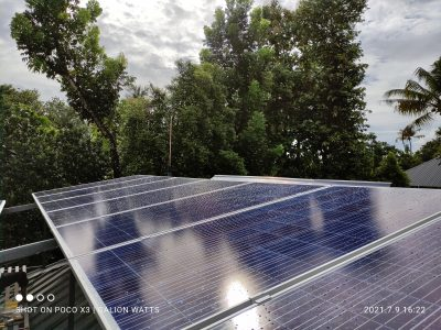 solar ongrid power plant in KARUKUTTY