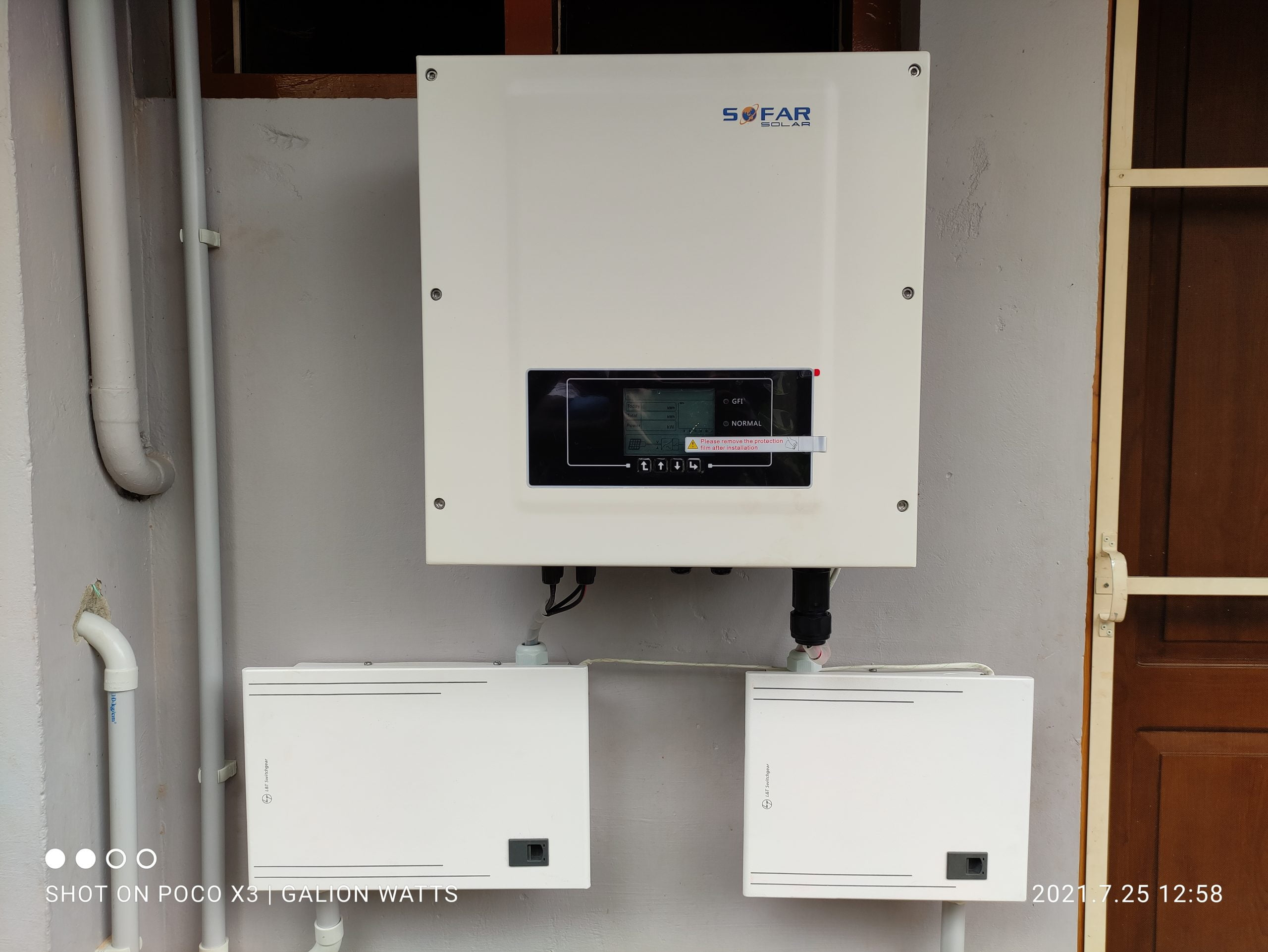 solar ongrid power plant in kaloor