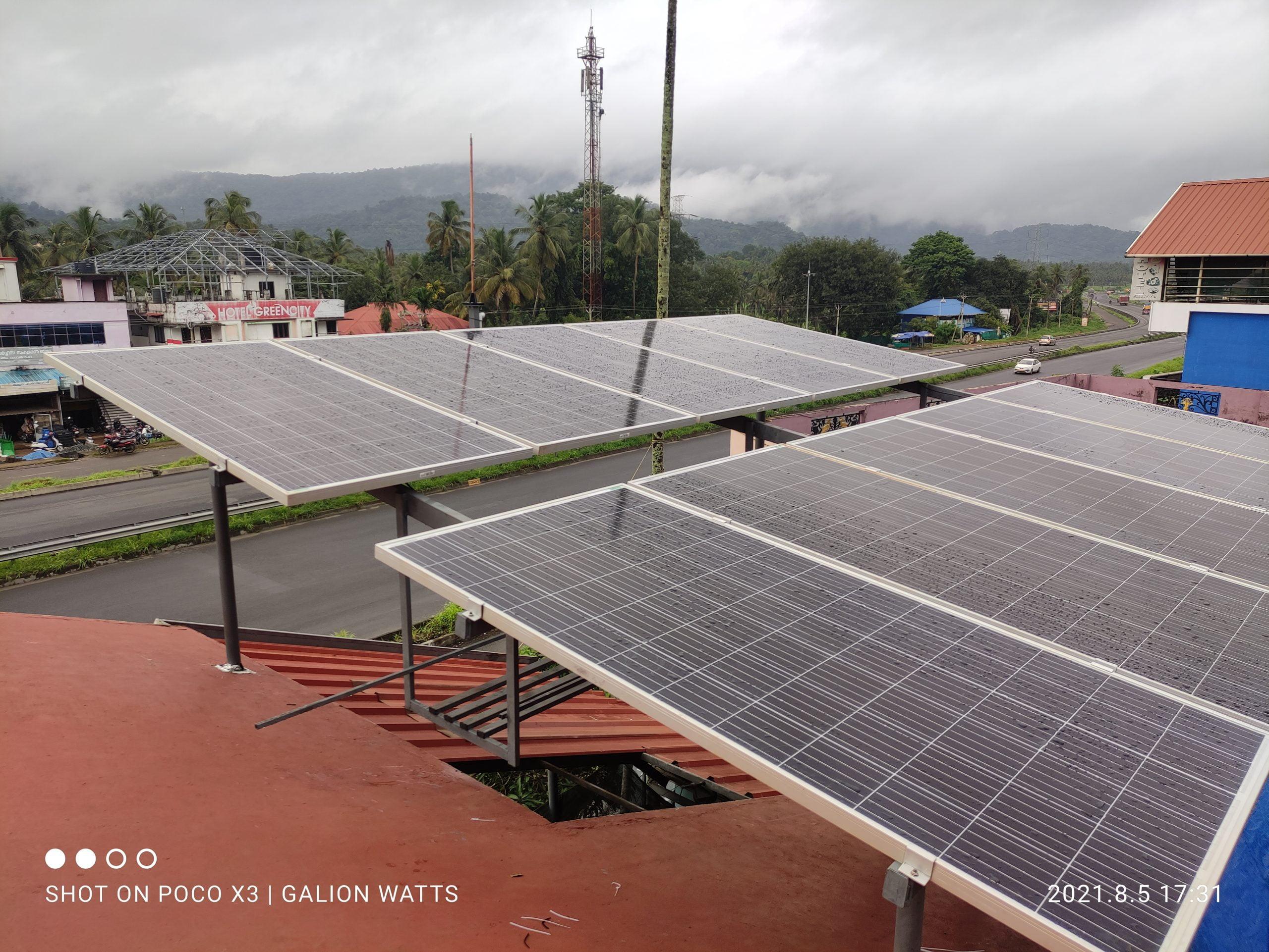 4kw Solar Power Plant at Pattikkadu Trissur 2