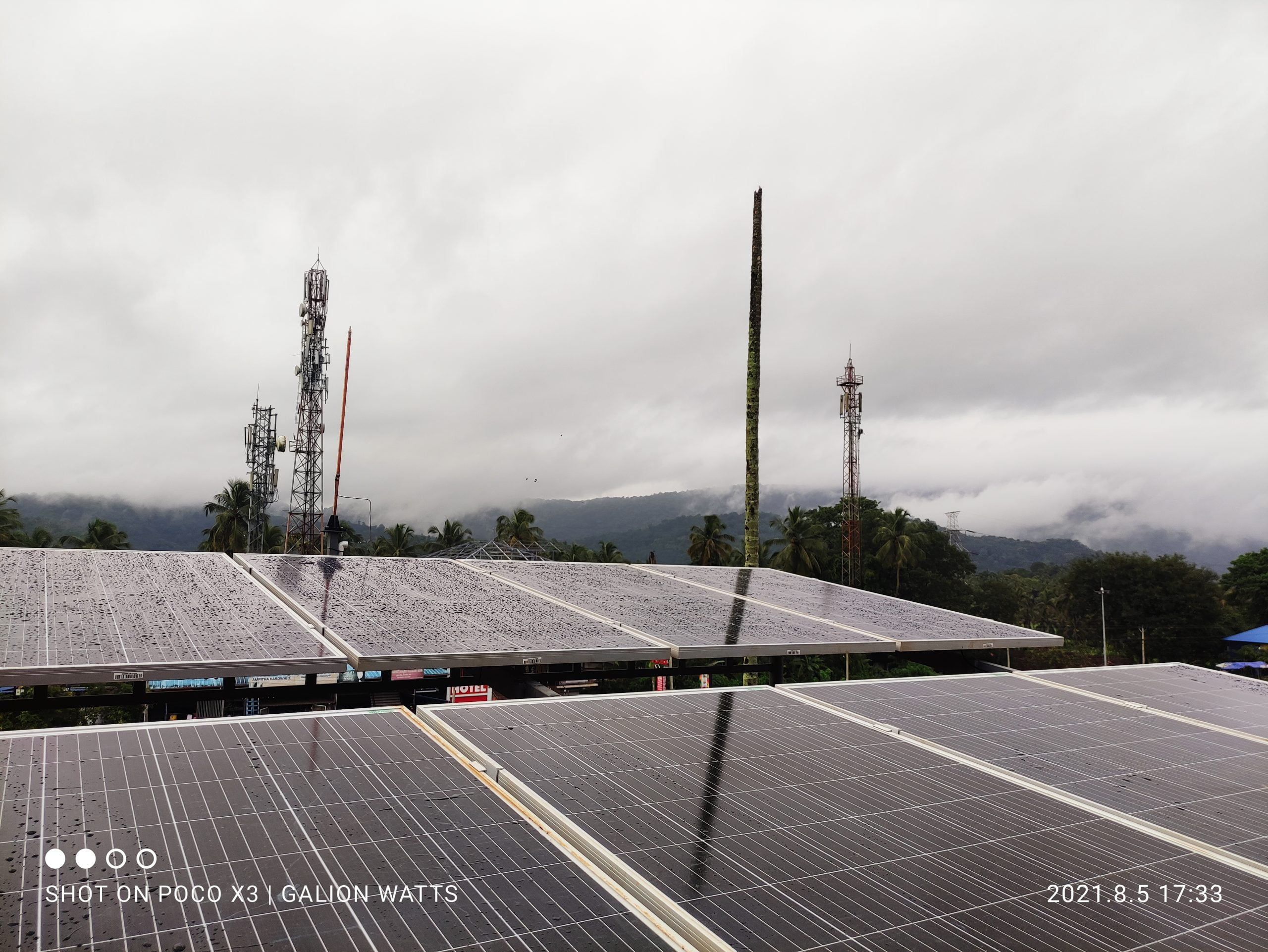 solar ongrid power plant in pattikadu