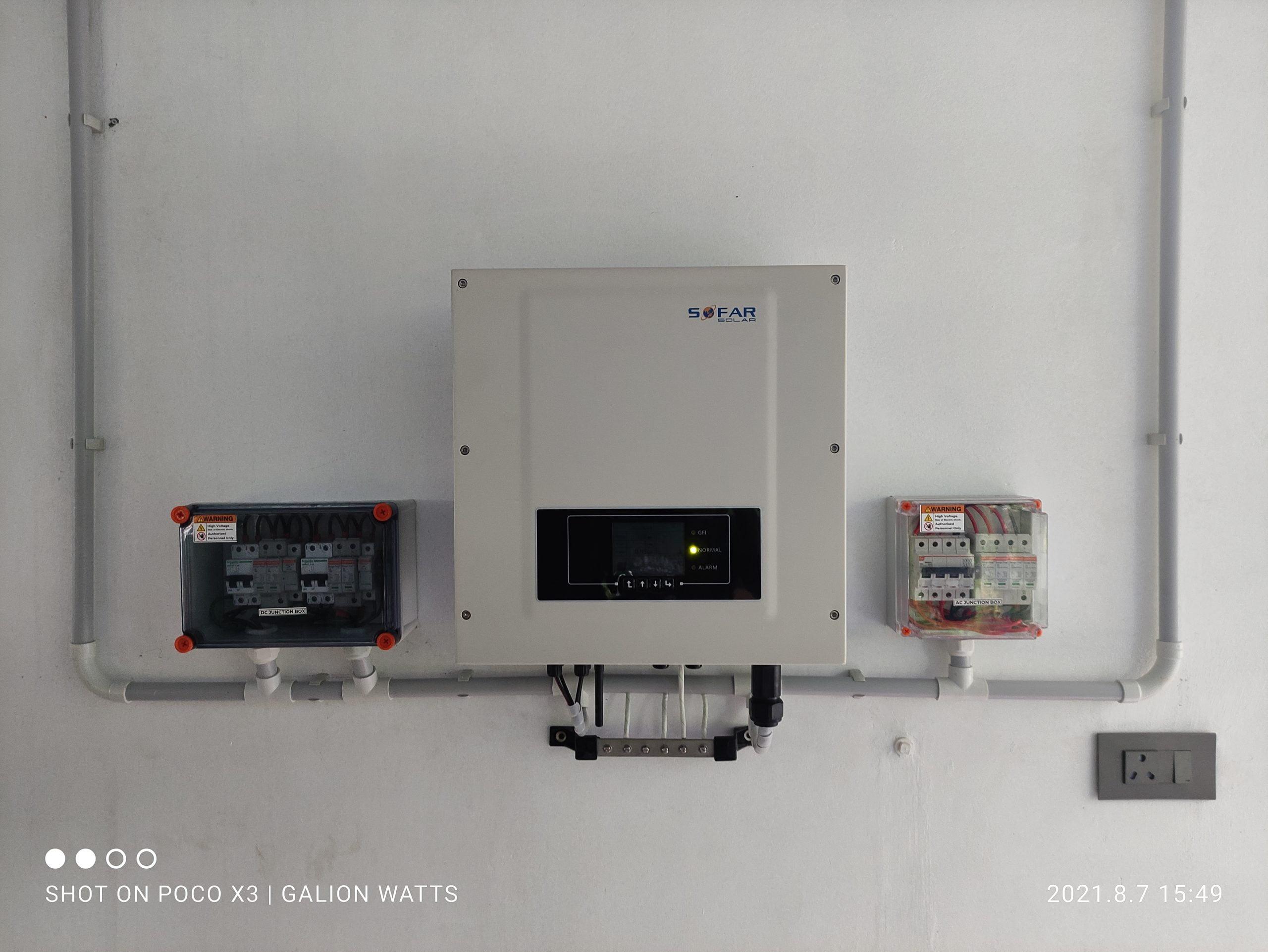 8kw solar panel at Kothamangalam (Thangalam) 1