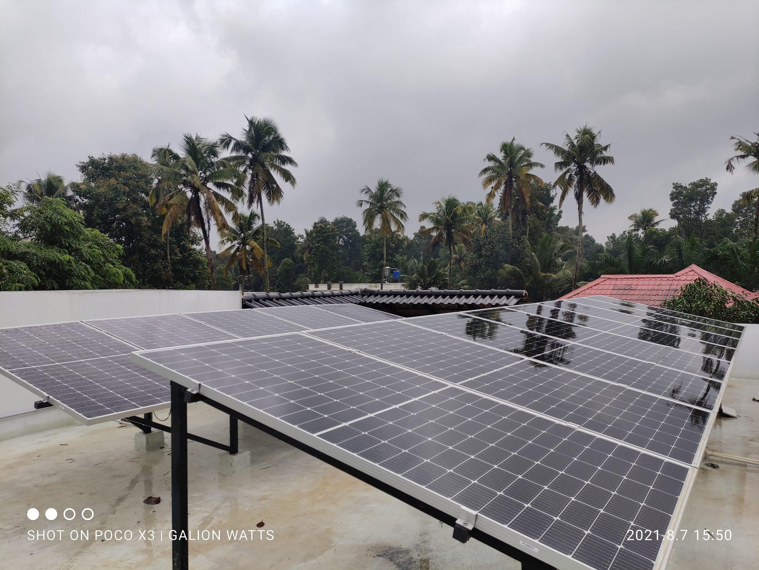 8kw solar panel at Kothamangalam (Thangalam) 2