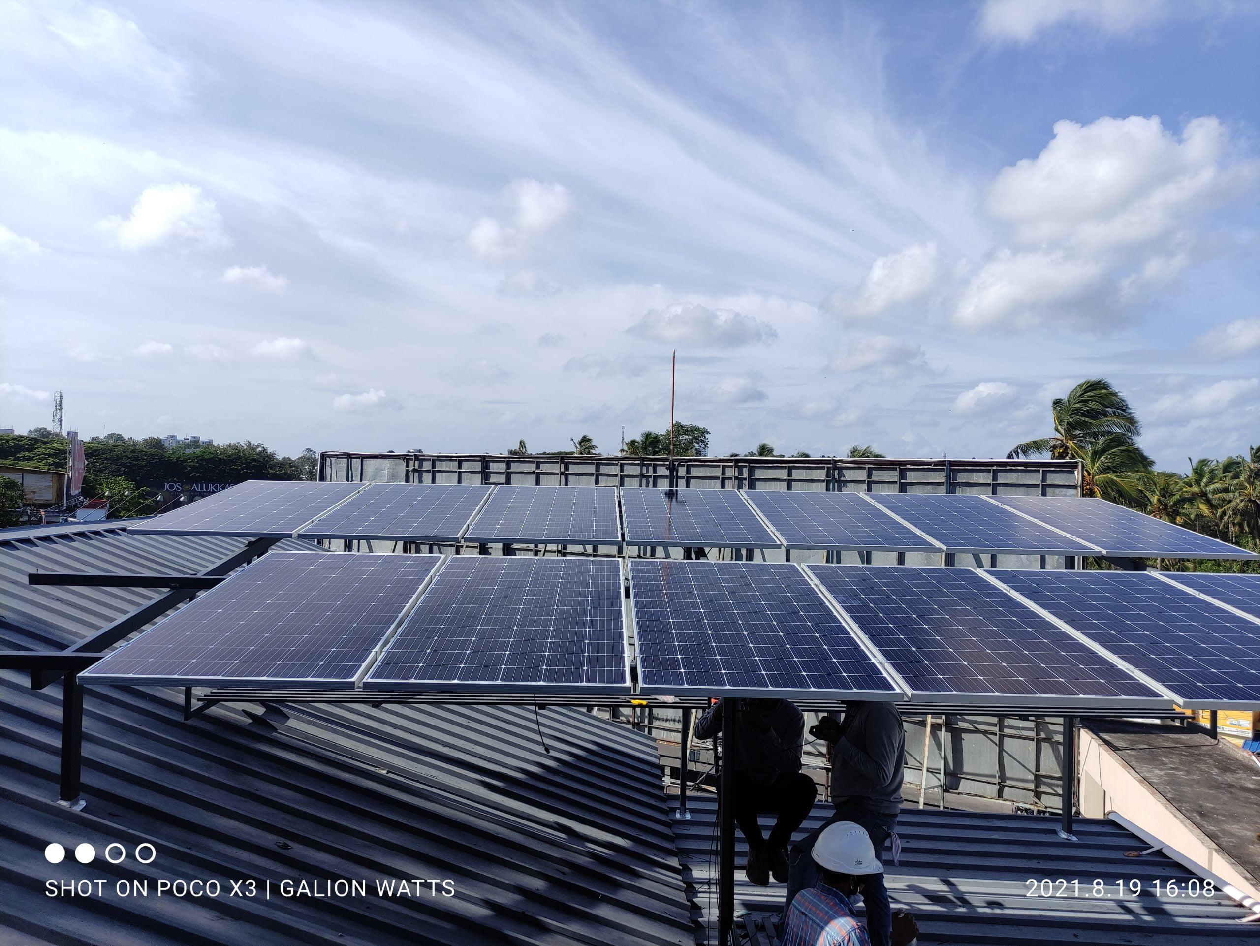 Best Solar Companies in Trivandrum solar ongrid power plant in thiruvanathapuram